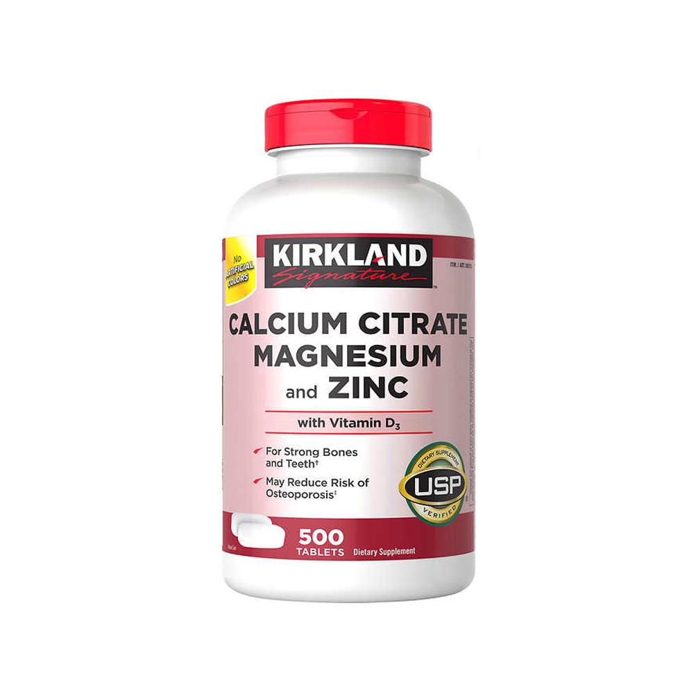 Kirkland 커클랜드 시그니쳐 칼슘 Citrate 500caps