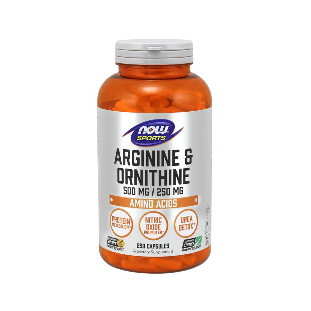 Nowfoods Arginine Ornithine 250 caps
