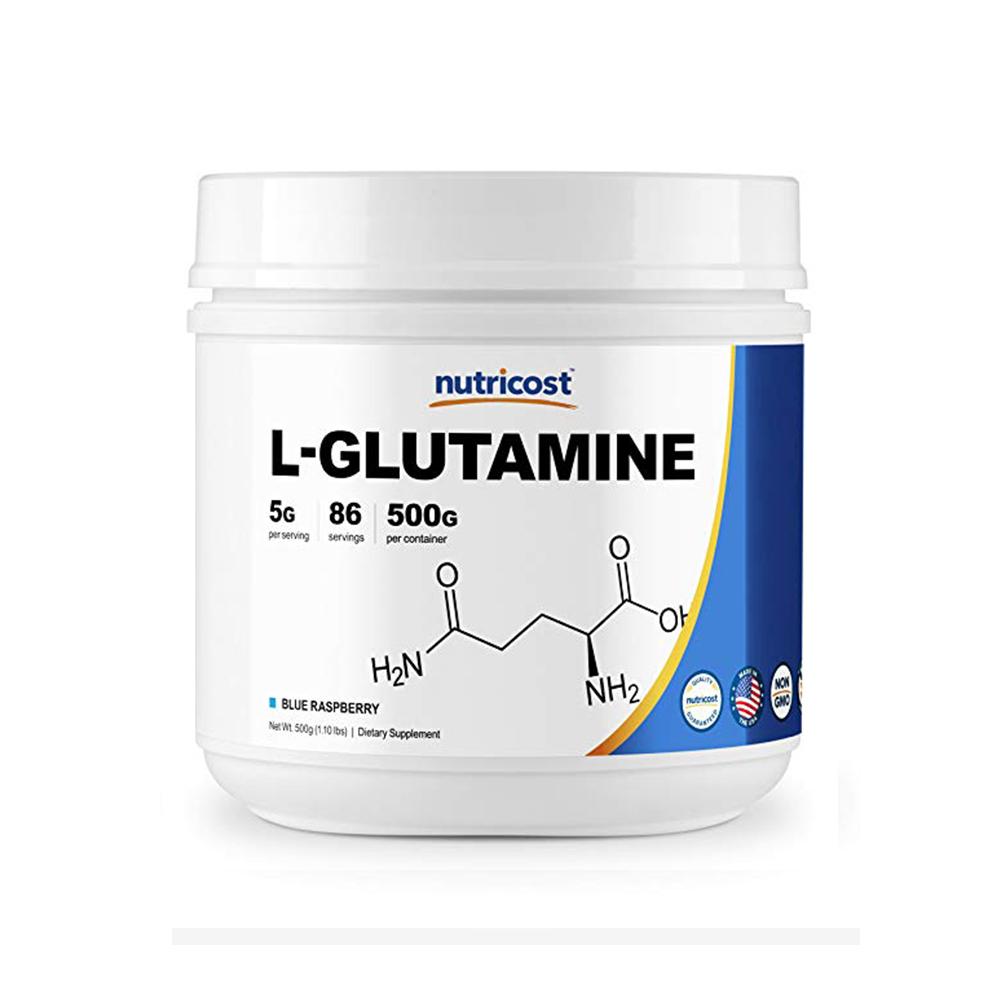 Nutricost 글루타민 L-Glutamine 라즈베리 500g