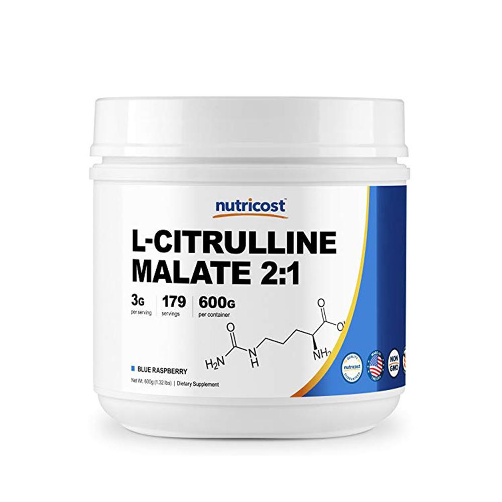 Nutricost 뉴트리코스트 L-시트룰린 말레이트 라즈베리 600g