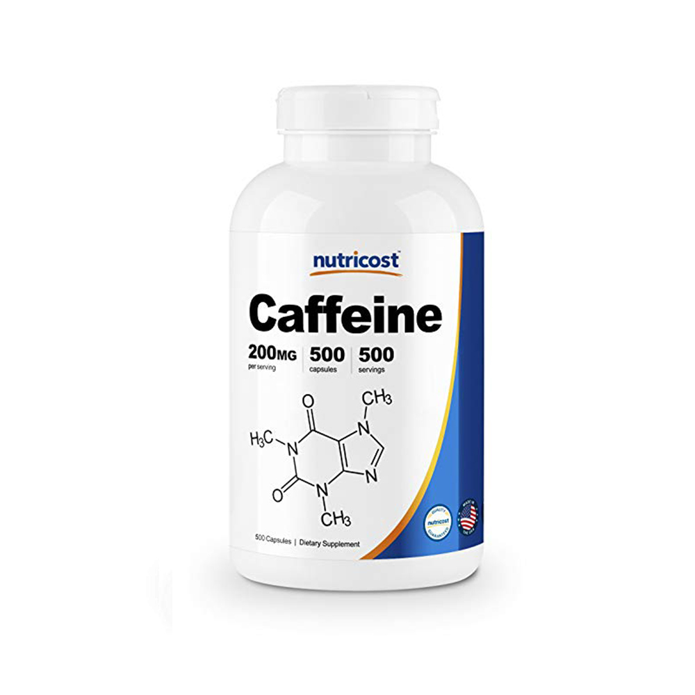 Nutricost 카페인 Caffeine 200mg 500cap