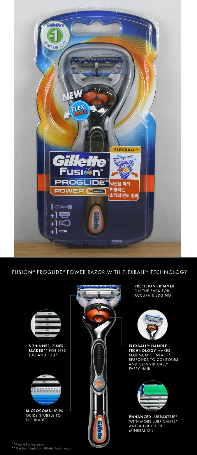 how to clean gillette fusion proglide power