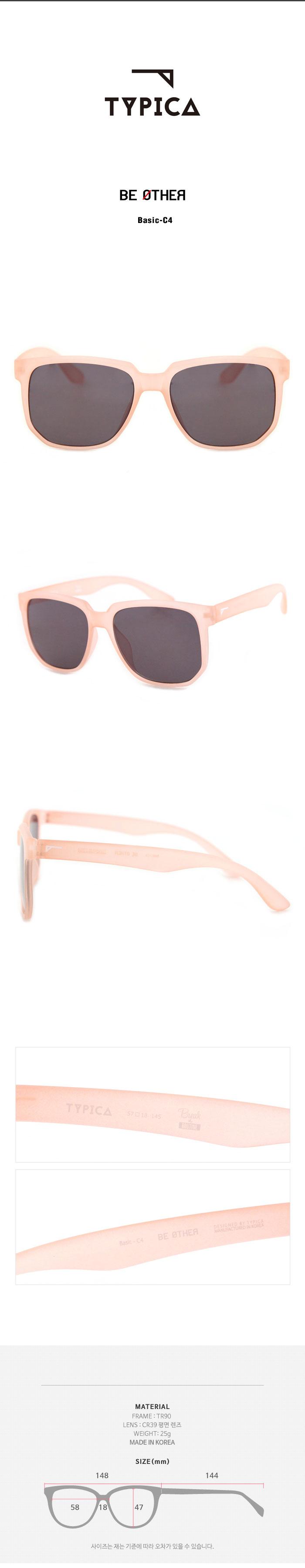 티피카(TYPICA) BE OTHER Basic-C4 패션선글라스