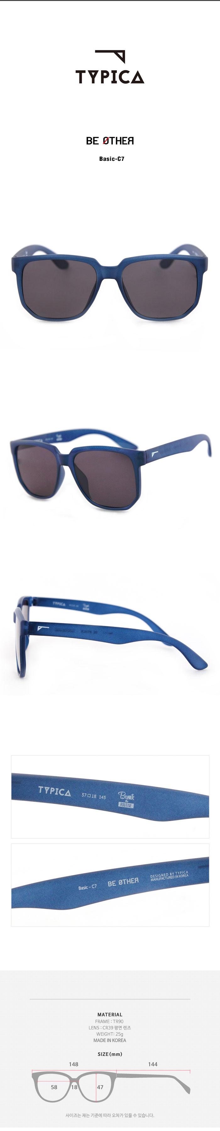 티피카(TYPICA) BE OTHER Basic-C7 패션선글라스