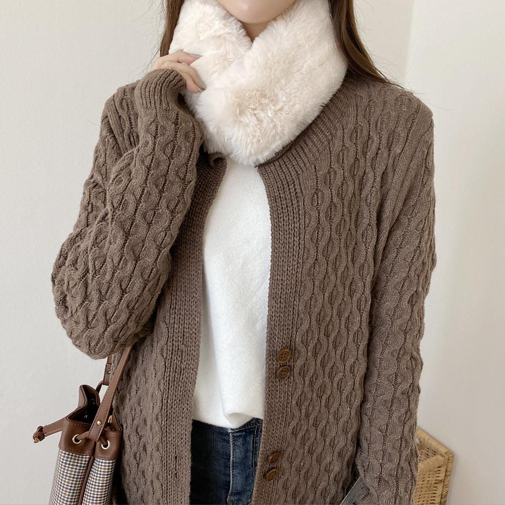 페스 컬러 자석 겨울 여성 밍크 목도리