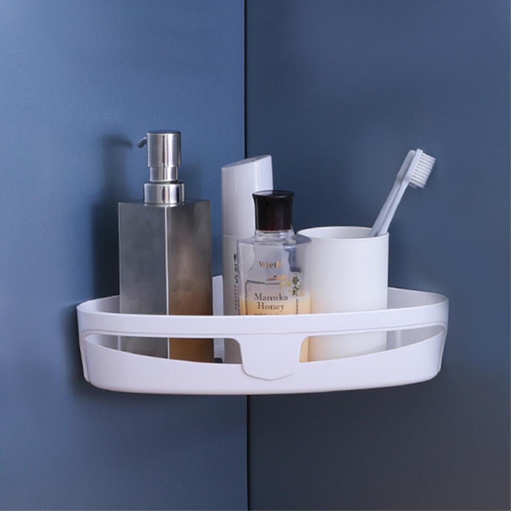 무타공 강력접착 욕실  코너선반 2개 심플드라이걸이
