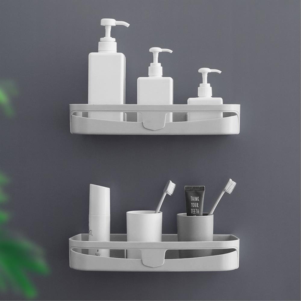 벽면  접착식 욕실수납 코너 선반 2개 코너욕실선반