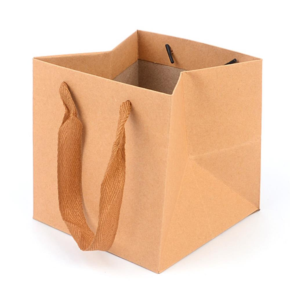 화분포장 무지 쇼핑백 정사각 종이가방 10개 옷가게쇼핑백