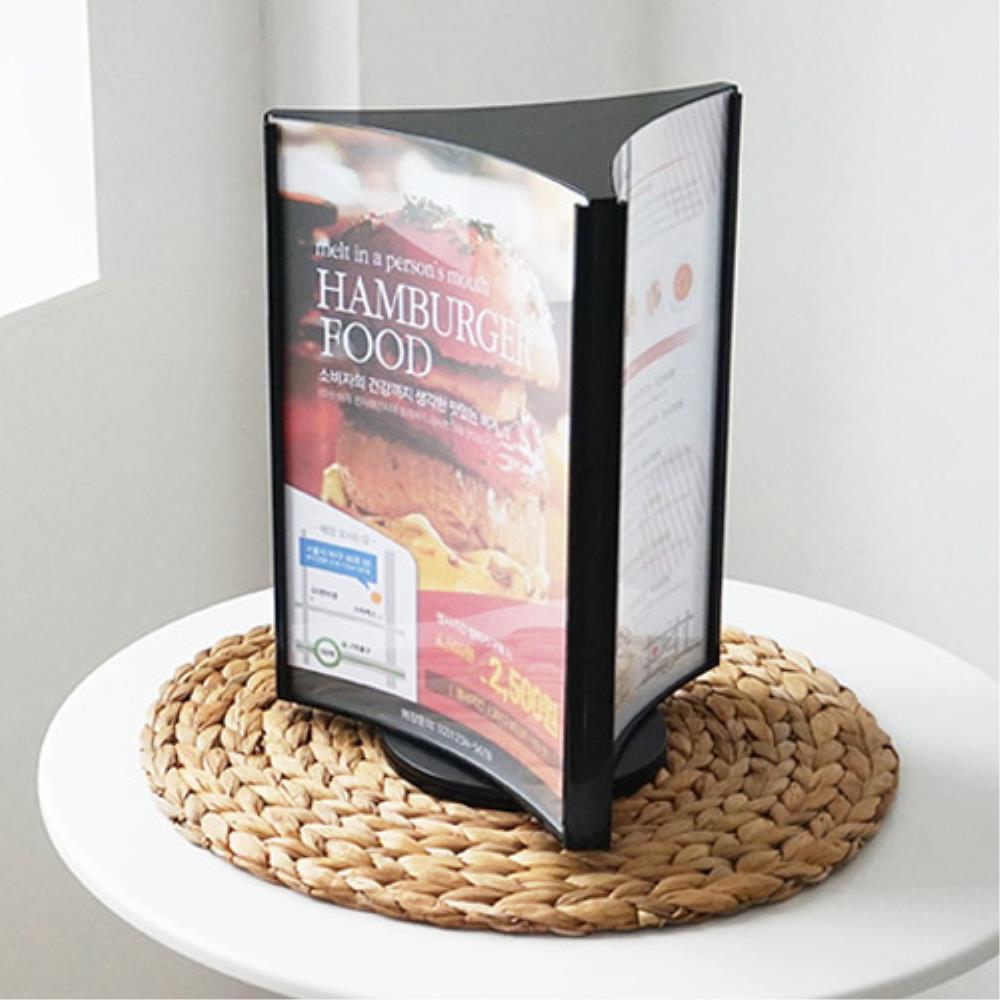 메뉴보드 광고  홍보물 꽂이 스탠드 회전형 쇼케이스 카다로그꽂이