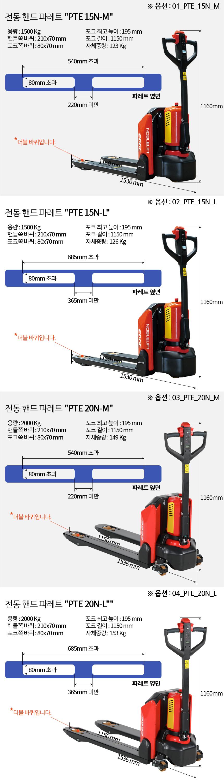 전설의대장간 노블리프트 전동 핸드 파레트, EDGE15M/EDGE15L/EDGE20M