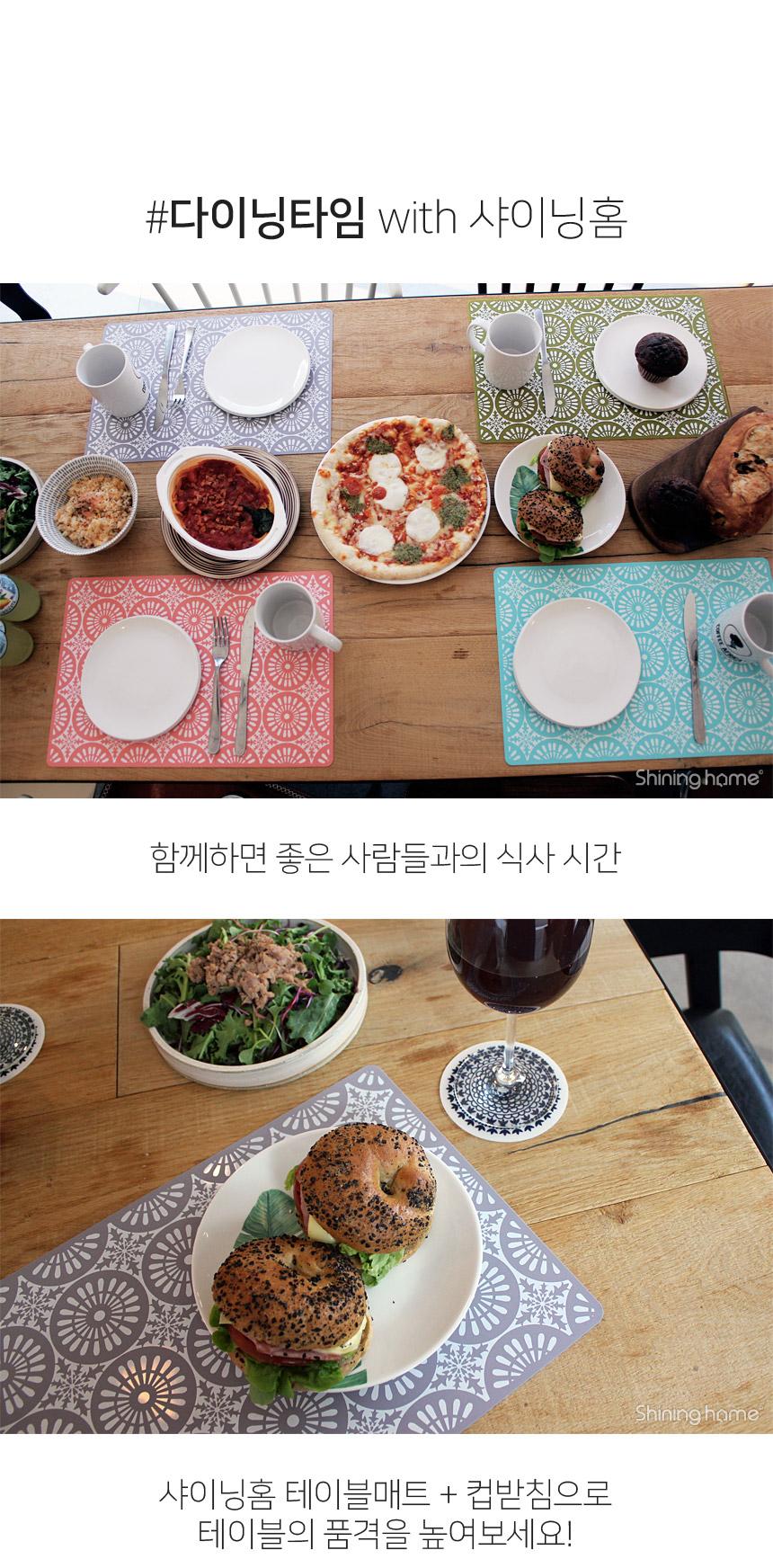 튤립 실리콘 컵받침 원형 1P - 샤이닝홈, 6,900원, 컵받침/뚜껑/홀더, 컵받침