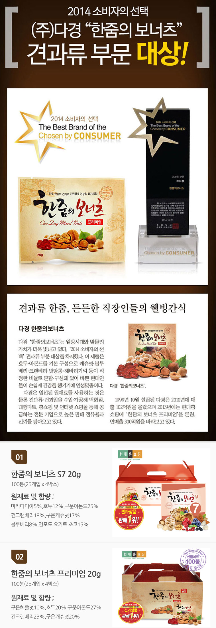 [ Dakyung ] Dakyung One Day Mixed Nuts Premium 100EA