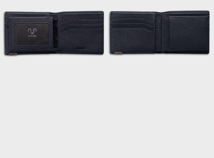 사피아노 로고 반지갑/남자친구선물/소가죽남성지갑 - 블랑플뢰르, 56,900원, 남성용, 반지갑