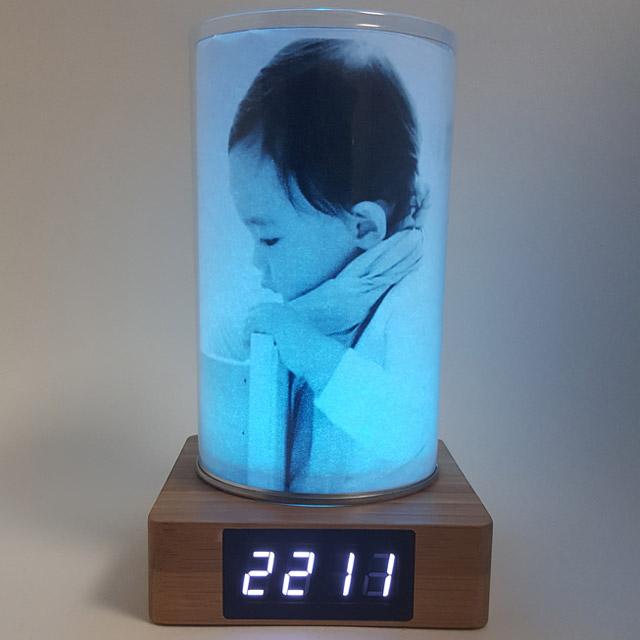 KCT17040015 DIY 원목 LED무드등 전자탁상시계