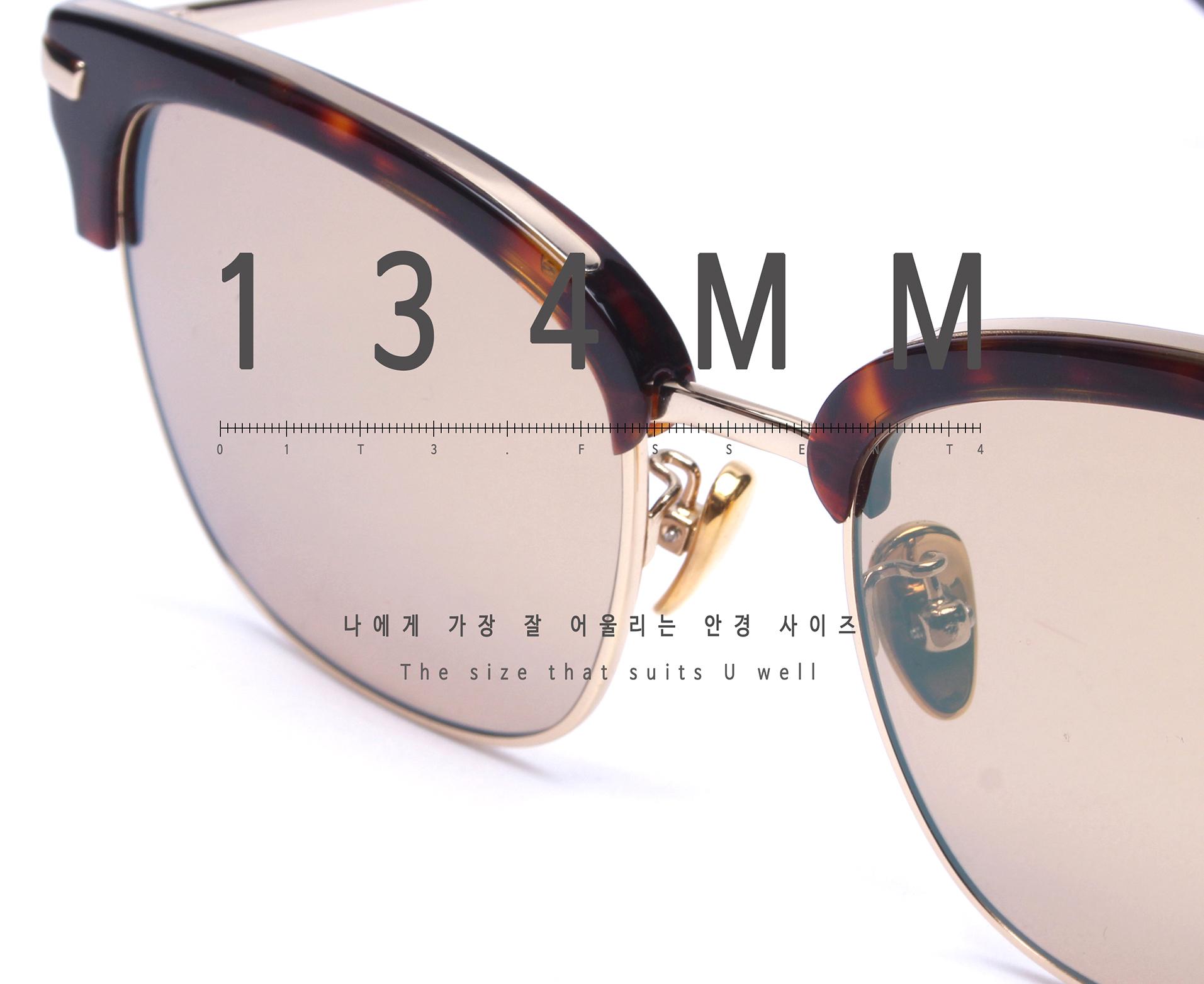 일삼사엠엠(134MM) A000517 시스루브라운틴트 선글라스