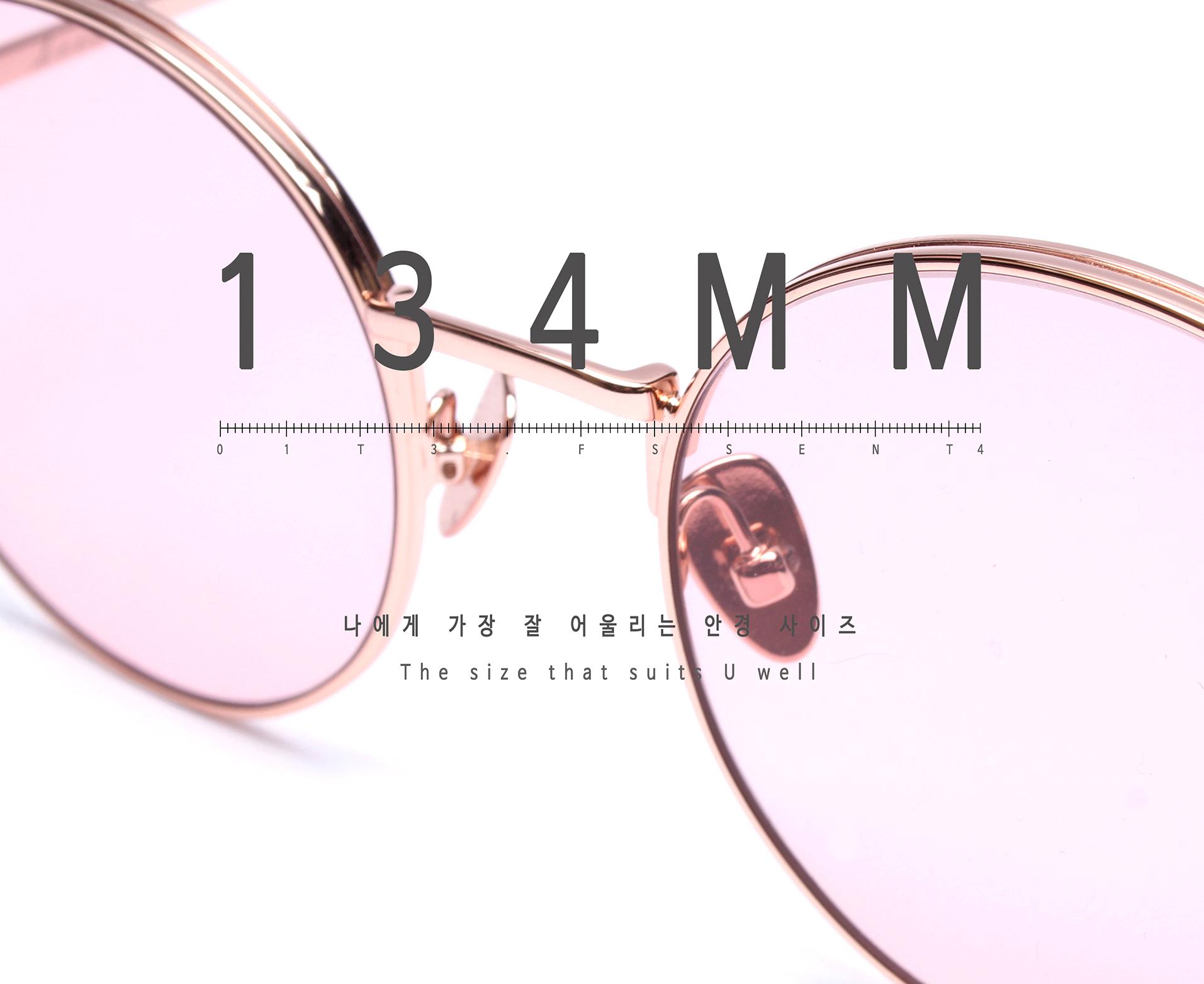일삼사엠엠(134MM) A000644 핑크틴트 선글라스 티타늄-IP도금
