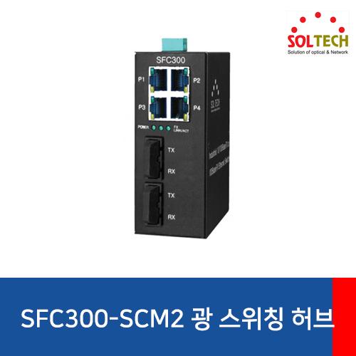 [SOLTECH] SFC300-SCM2 Industrial Optical Switch Hub