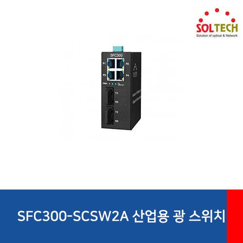 [SOLTECH] SFC300-SCSW2/A Industrial Optical Switch Hub