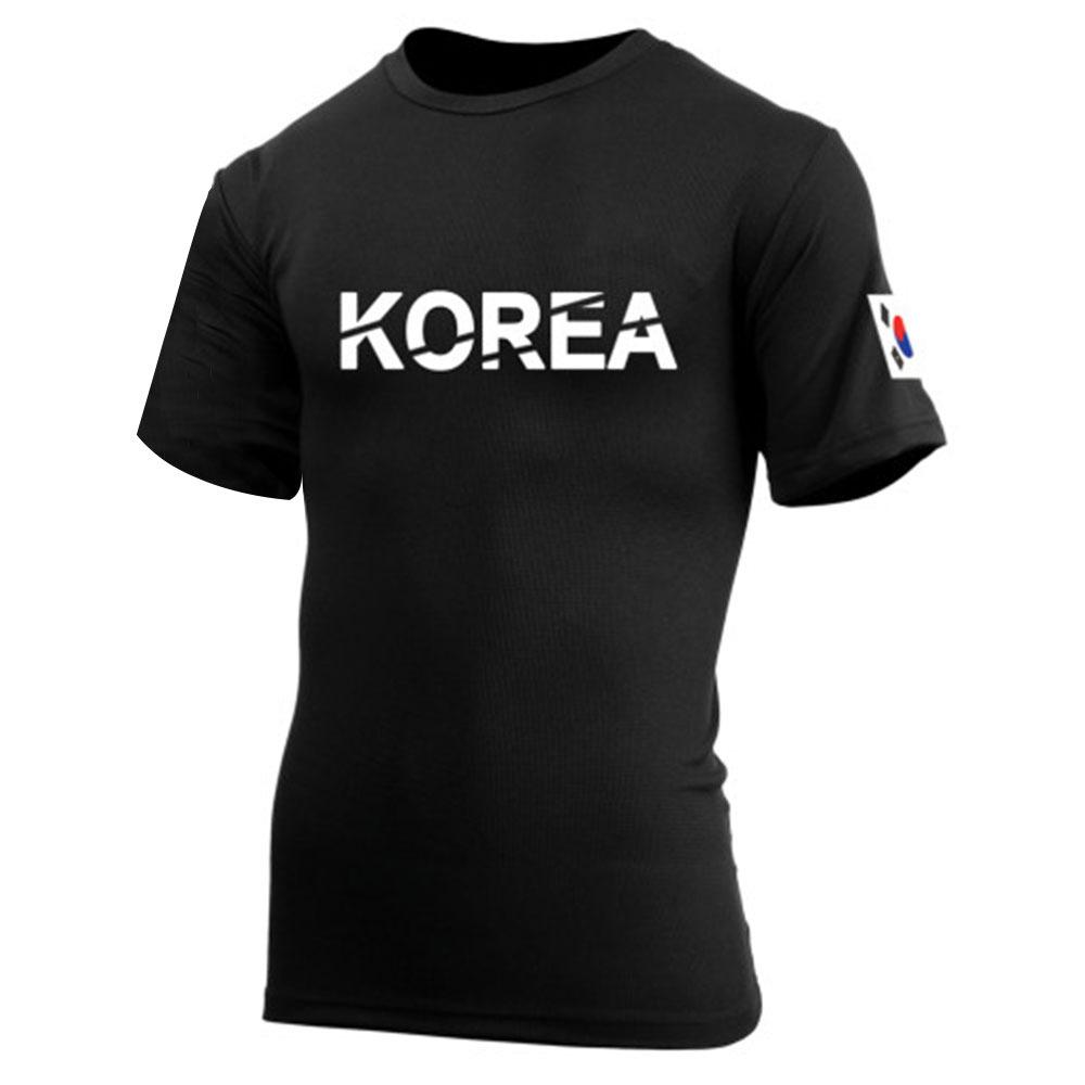 쿨론 KOREA 코리아 반팔 검정 티셔츠/쿨티셔츠 코오롱