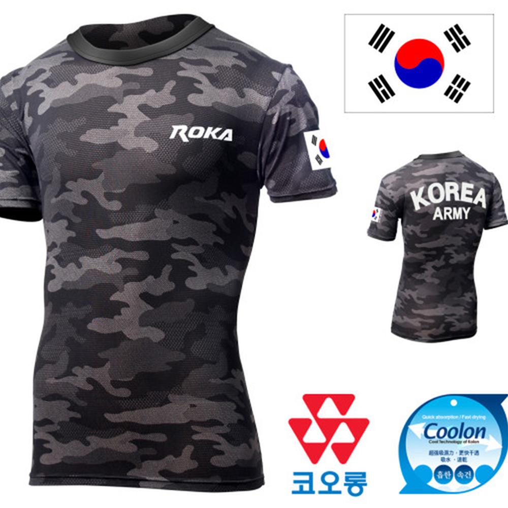 ROKA 신형 블랙 멀티캠 로카 반팔티셔츠 ARMY 반팔티