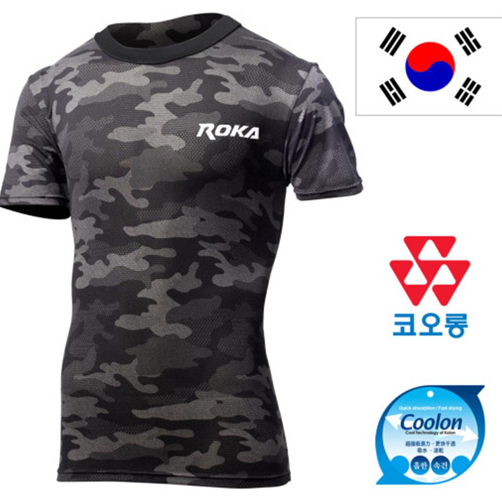 ROKA 신형 블랙 멀티캠 로카 반팔 티셔츠 반팔티 로카