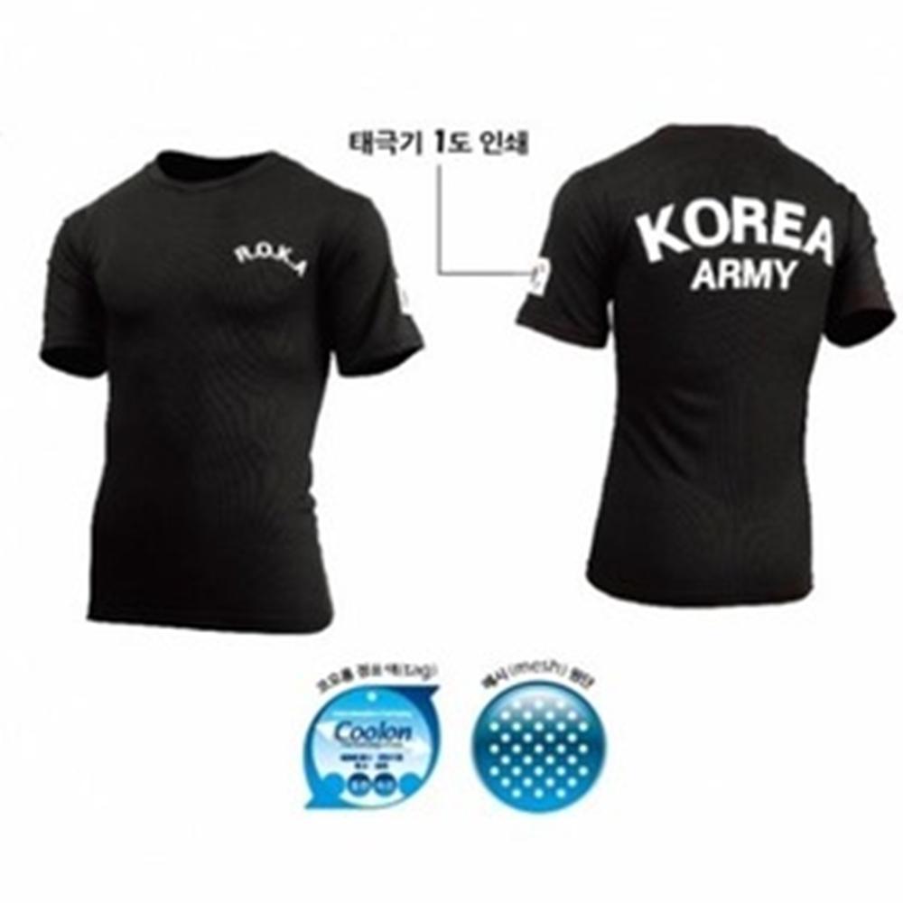COOLON스포츠티셔츠(검정 반팔)/쿨론스포츠티셔츠(
