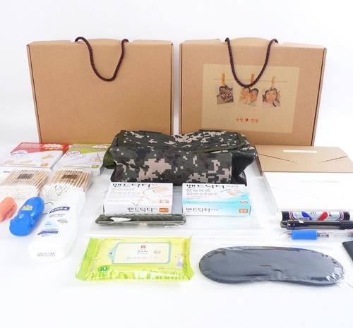 최고급 입대용품 세트 군입대 군인 훈련소 입영선물