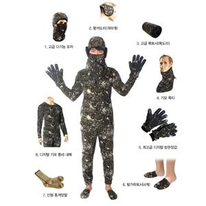 최고급 디지털 방한용품 세트 군용 군인 군대용품