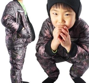 어린이 아기 디지털 기모발열 깔깔이 동계방한용품