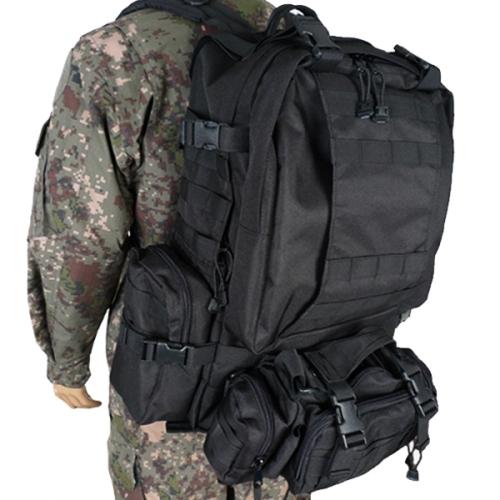 블랙 군인가방(60L) /로카 학생 밀리터리 백팩