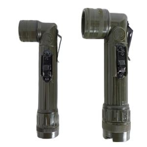 ㄱ자 후레쉬(국방색) 군용 군인 군대 훈련용품