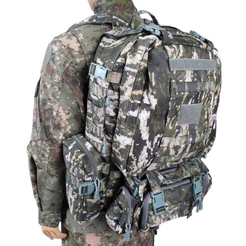 해병대픽셀 디지털 가방(60L) /로카 학생 밀리터리 백팩