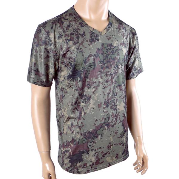 쿨링 디지털 V넥 반팔티 /군인 군대 티셔츠