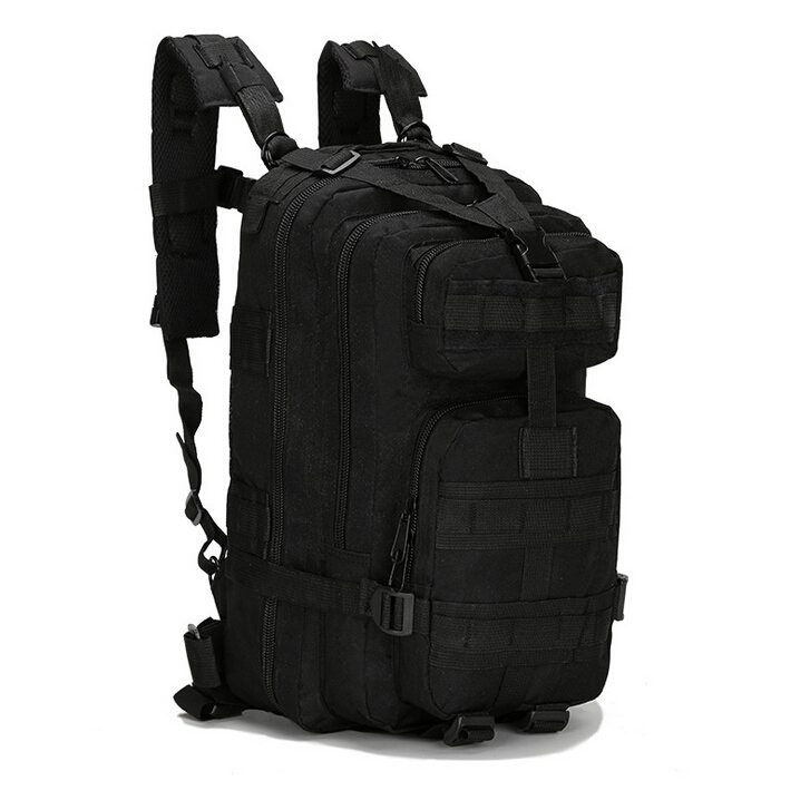 COMPACK 블랙 검정색/밀리터리백팩 군인 로카가방
