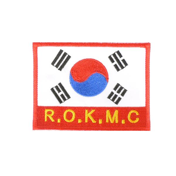 해병대 벨크로 태극기 와펜 군인 군대가방 패치 ROKMC