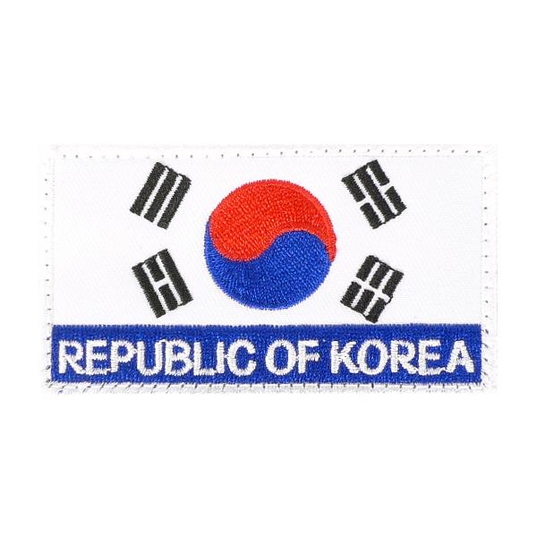 ROK 벨크로 태극기 컬러