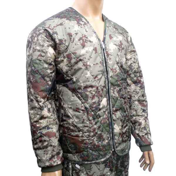 국산 V넥 디지털 깔깔이 동계 방한용품 외투 자켓
