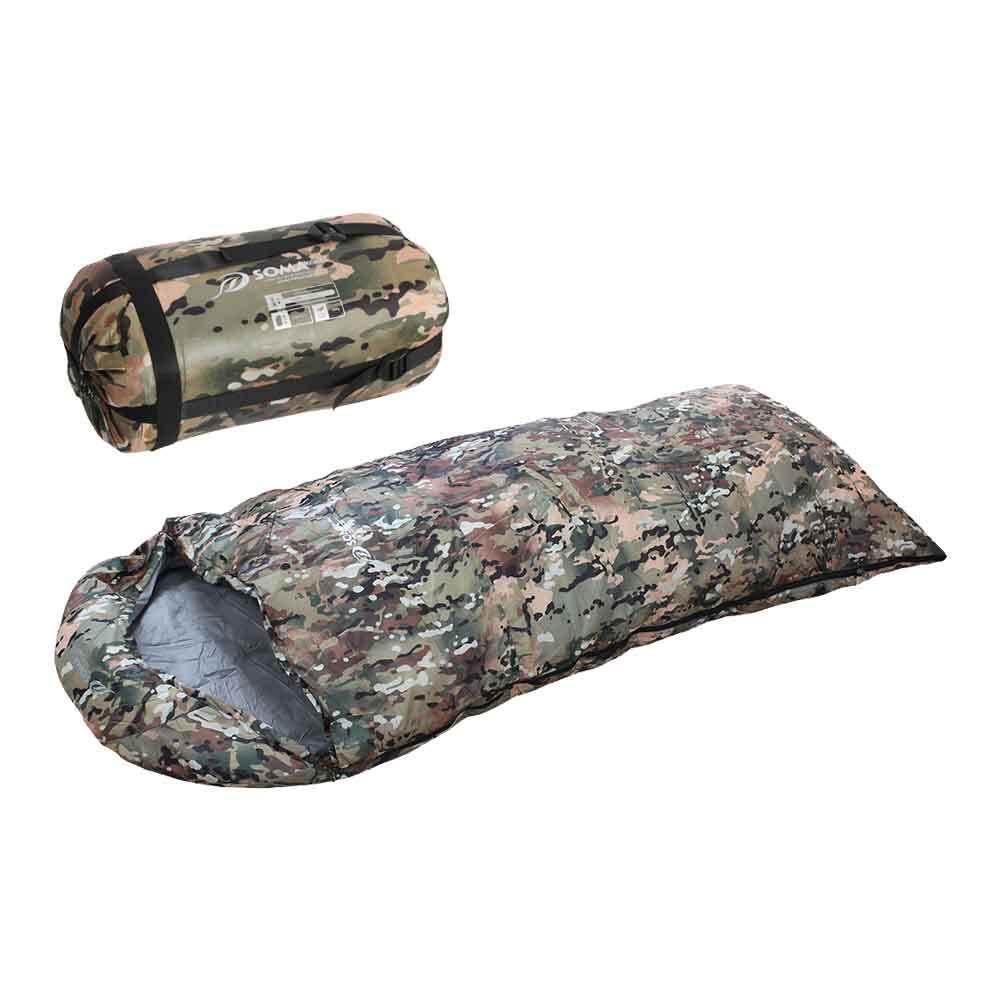 멀티캠 오리털 침낭 군인 군대 군용 캠핑 침낭