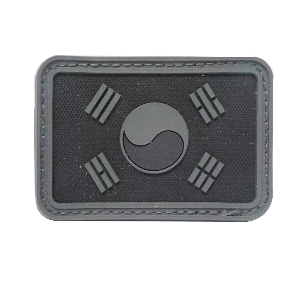 태극기패치 PVC 검정
