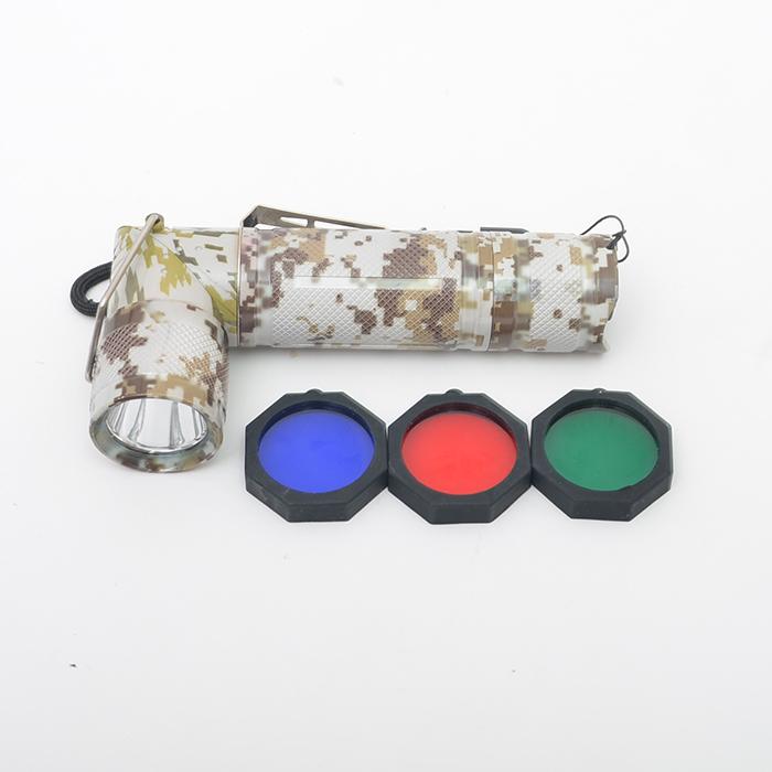삼색필터 고급형 멀티 ㄱ자후레쉬 군인 자대생활용품