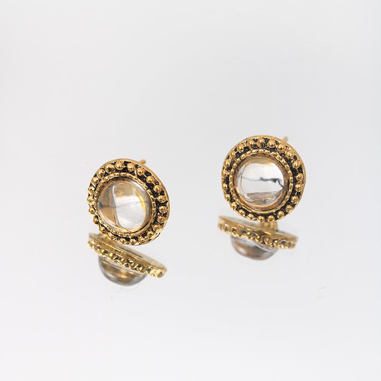 큰 엔틱 귀걸이 2종 (클리어/오로라) - 라라리빠, 6,900원, 귀걸이, 패션
