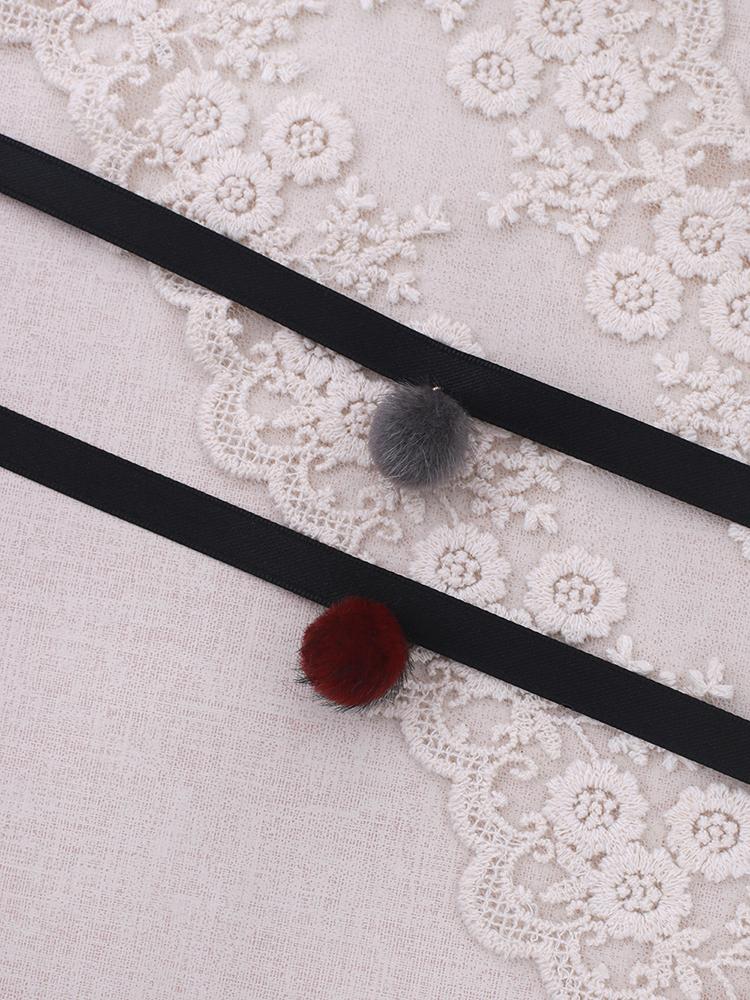 퍼 폼폼 초커목걸이 - 라라리빠, 8,900원, 패션, 패션목걸이