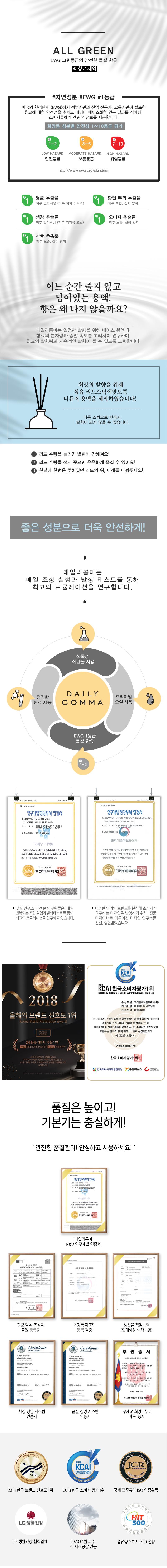 데일리콤마 디퓨저 본품 200ml 1+1+1 - 에코조이, 12,900원, 디퓨져, 디퓨져