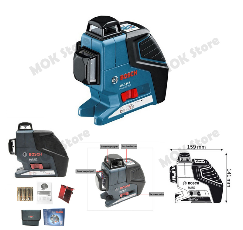 bosch gll3 80p professional leveling 360 degree multi line laser level alignment ebay. Black Bedroom Furniture Sets. Home Design Ideas