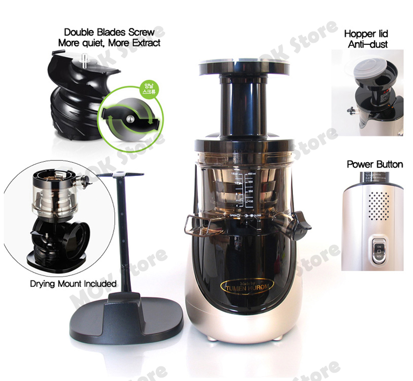 Hurom Slow Juicer Hmlbb11 150w 2nd Generation : TUMEN HUROM Premium HN-EBK20 Slow Juicer Extractor 2nd Generation - Red