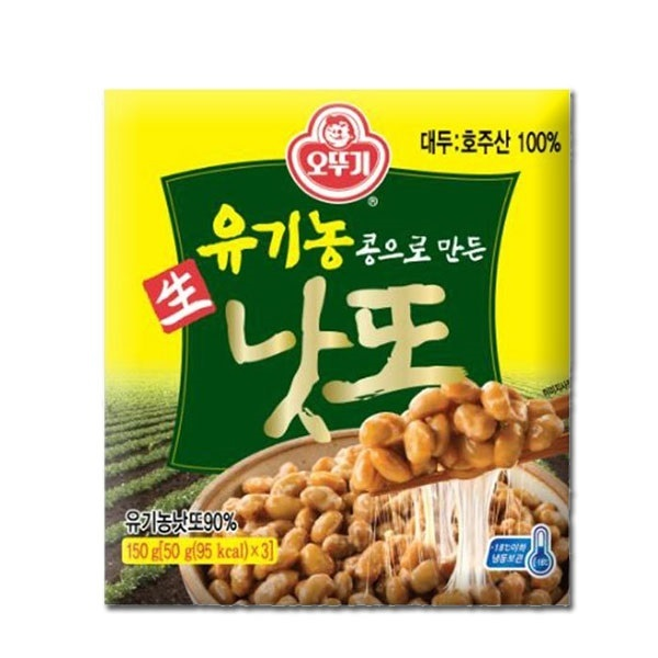[현재분류명],180822AMART-4369 유기농콩으로 만든 생낫또 150g(50g x 3ea) 4개,고추장,장,된장,콩식품,낫또