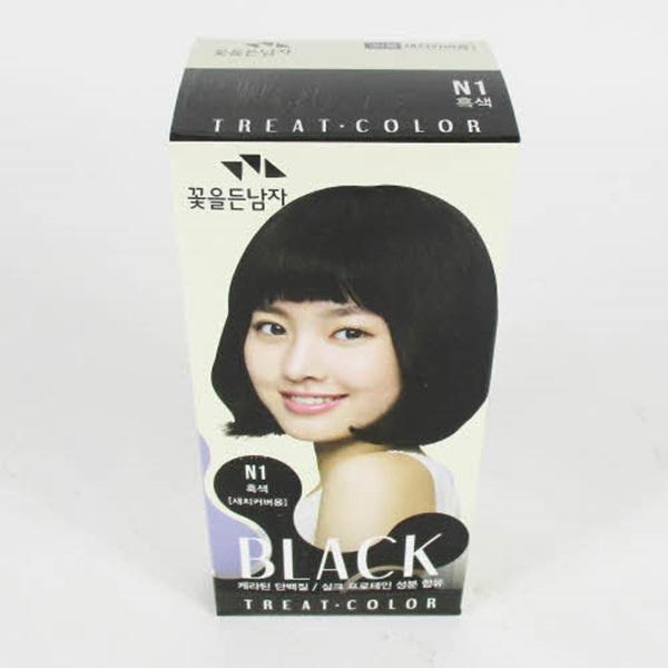 꽃남자 트리트 흑색 N1 X 30염색약/새치염색약/버블염색약/염색/헤어염색약