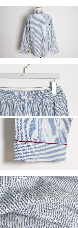 올록볼록 스트라이프 투피스 여성잠옷 W234 - 쿠비카, 74,000원, 잠옷, 여성파자마