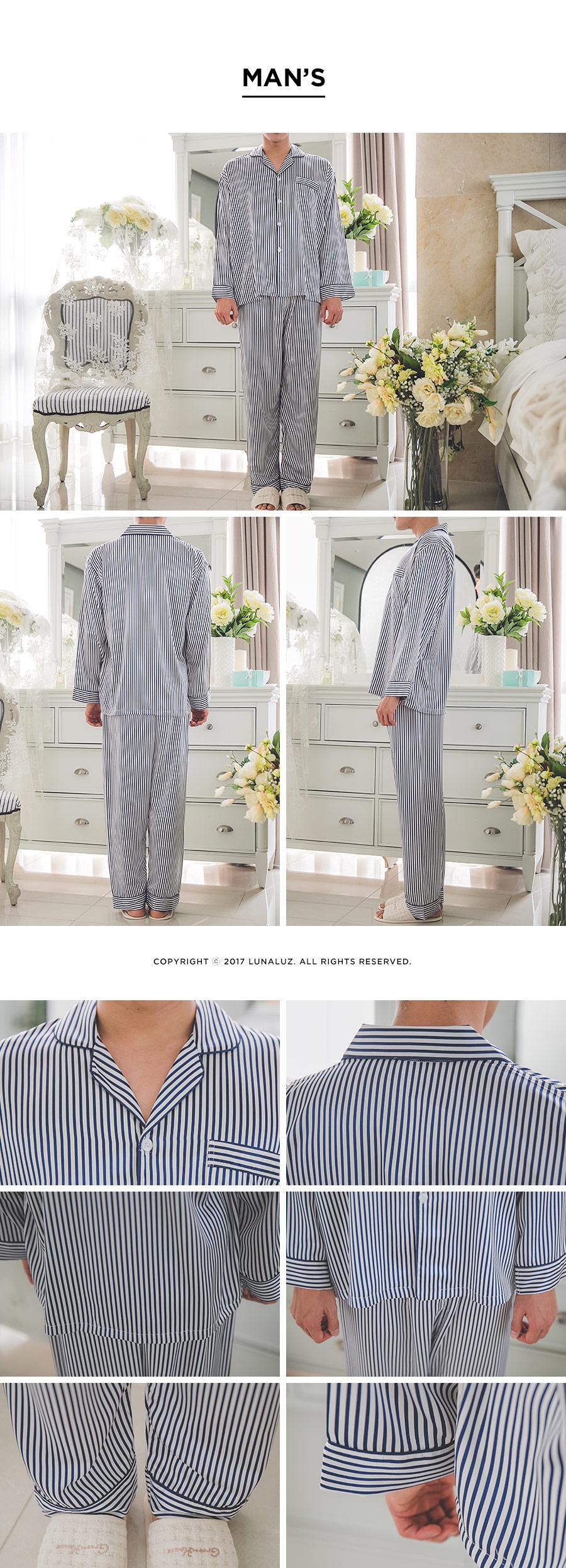 고광택 시크한 스트라이프 남성잠옷 - 쿠비카, 79,000원, 잠옷, 남성파자마