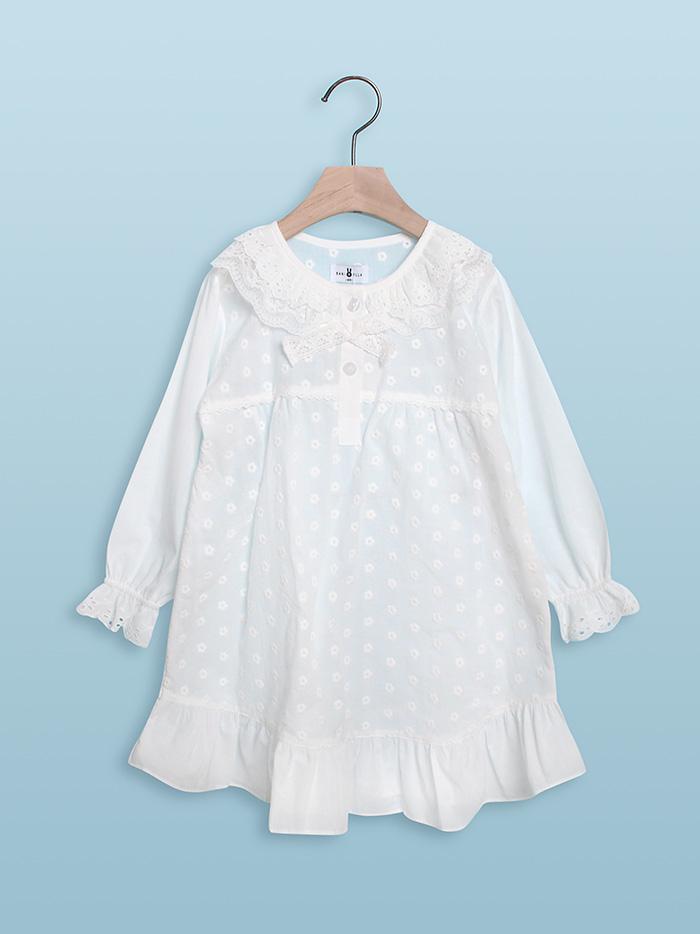 [할인]여아 하니비 긴소매 원피스잠옷 17-1003